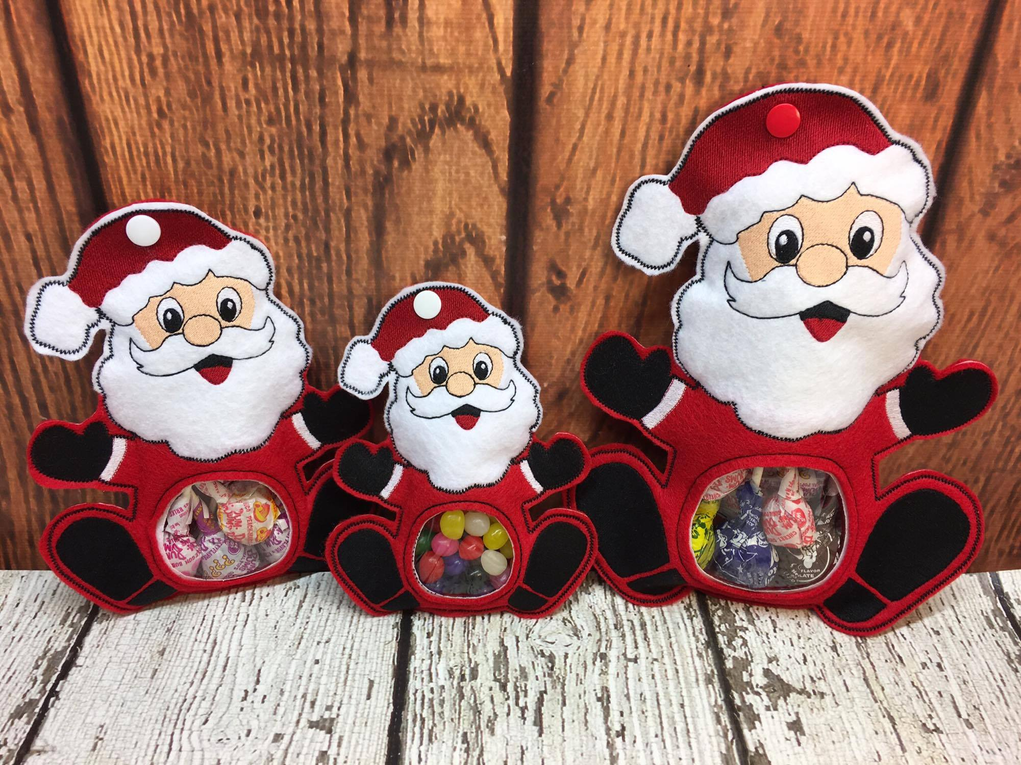 bed4d28752a4d 100% ITH – Santa Candy Holder – Christmas – In the Hoop – 5 x 7