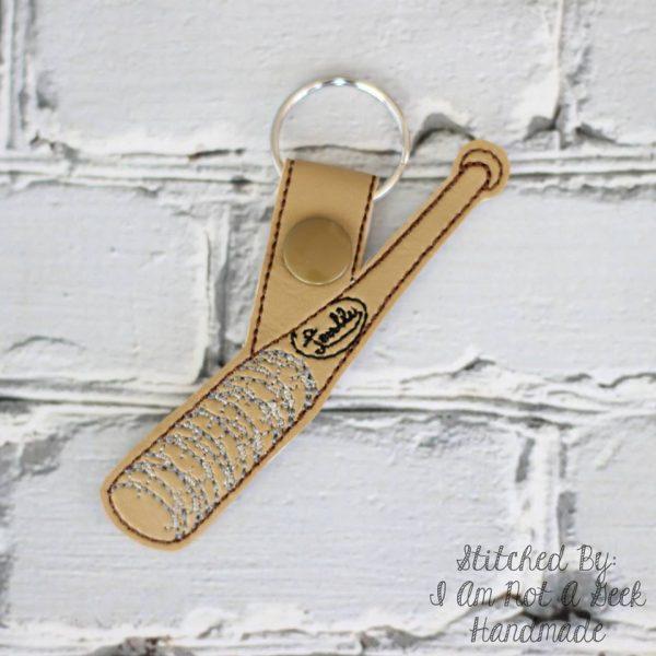 Barbed Wire Baseball Bat - TWD Key Fob Digital Embroidery Design