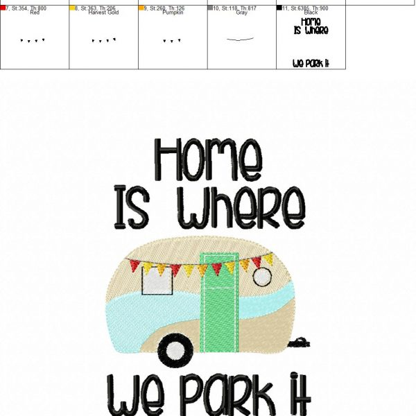 Home Is Where We Park It Camper Camping Towel Design 2