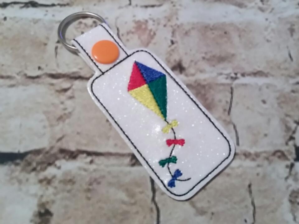 Kite - Key Fob In The Hoop - DIGITAL Embroidery DESIGN
