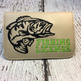 Ith projects page 7 nanas handmade baby boutique fishing license holder id business card bass 5 x 7 only reheart Images