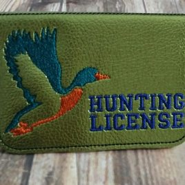 Ith projects page 7 nanas handmade baby boutique duck hunting license holder id business card 5 x 7 only in reheart Images
