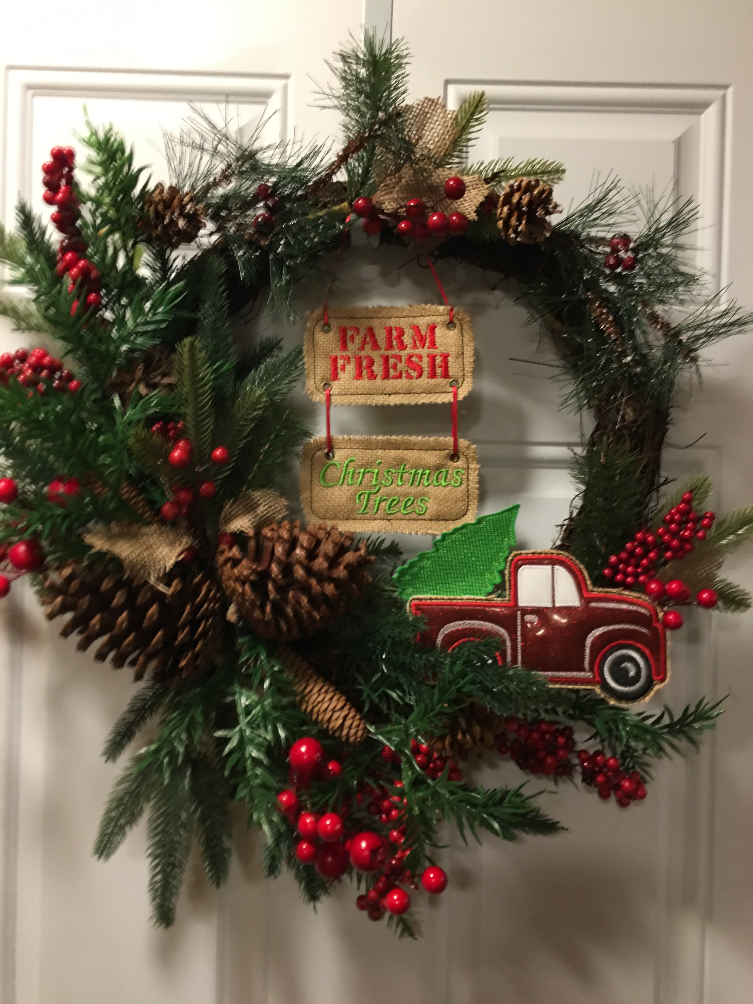 Vintage Truck Farm Fresh Christmas Trees Wreath Set 5 X 7 6 X 10 And 8 X 12 Included Digital Embroidery Design Nana S Handmade Baby Boutique